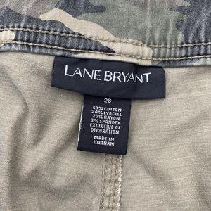 Lane Bryant Pants - Lane Bryant Camo Utility Skinny Pants Studded 28